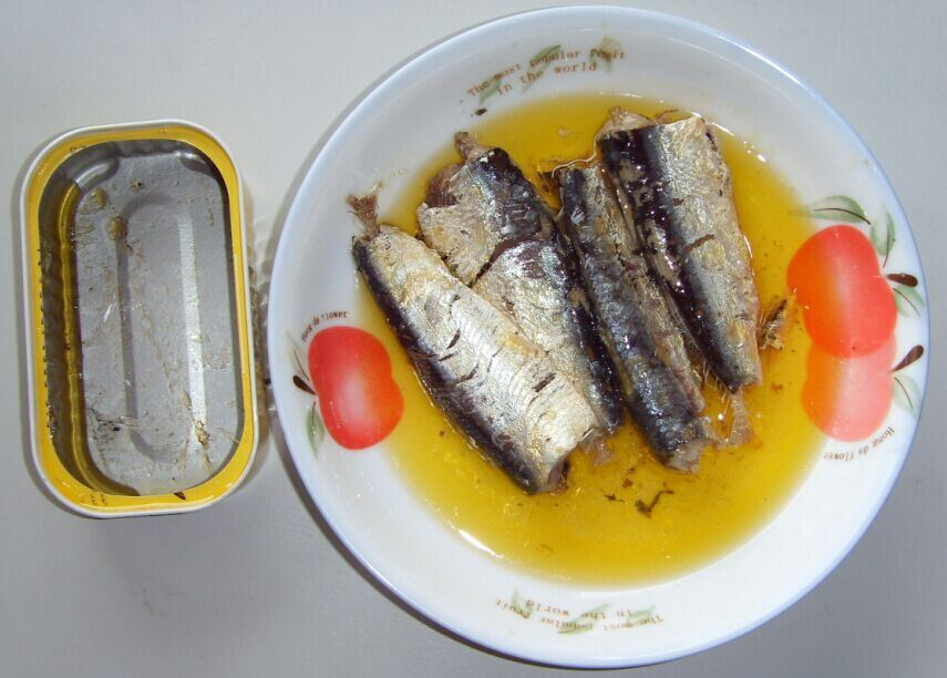 Hot Selling 125g Canned Mackerel in Oil