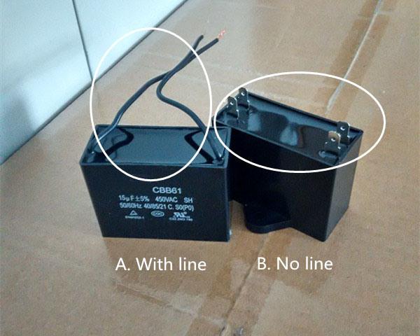 Cbb61 Run Capacitor for AC Fan Motors
