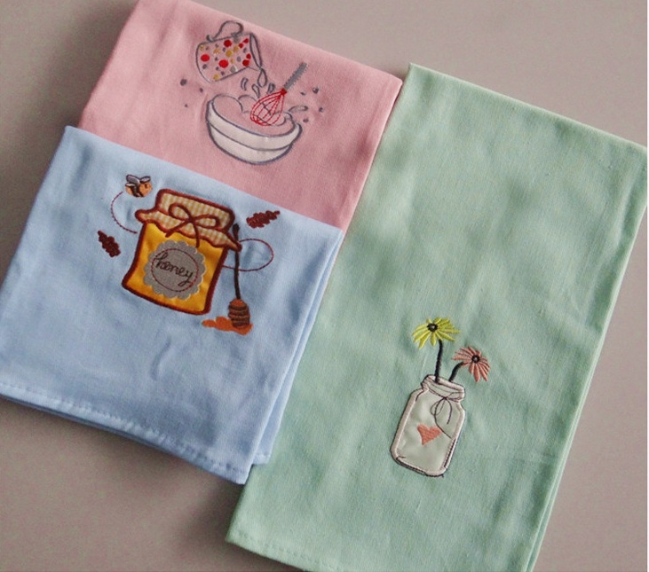 (BC-KT1014) Cleaning Pad Fashionable Design 100% Cotton Kitchen Towel