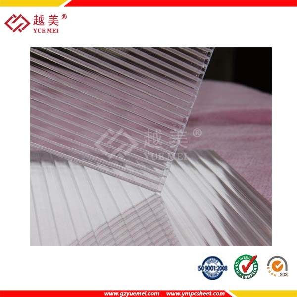 UV Coated Clear Hollow Polycarbonate Sheet/Hollow Sun Panel for Building Material