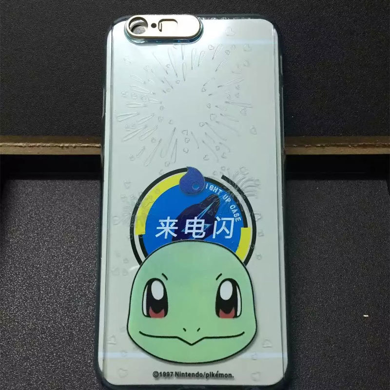 Full Cover Pokemon Go Phone Case with LED Flash