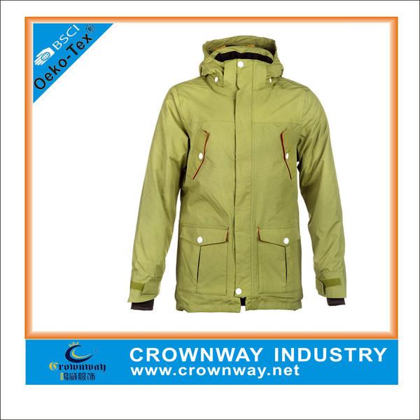 Winter Green Down Warm Parka Jacket for Men