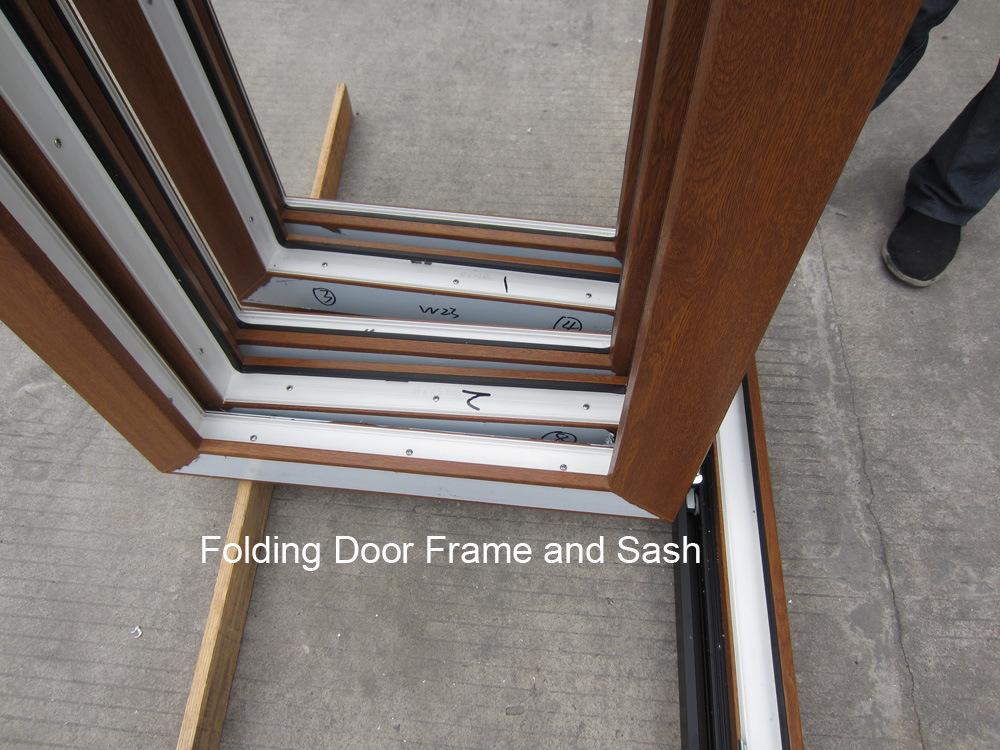 Wood Like Rehau/Veka PVC Profile Bifold/Folding Sliding Window