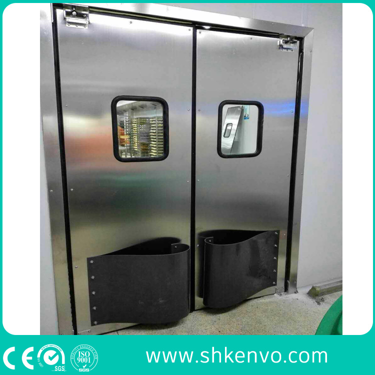 China Industrial Stainless Steel Impact Resistant Traffic Entry Door