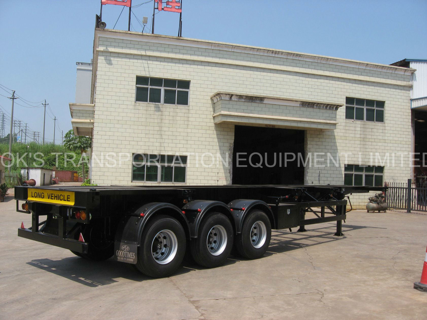 40 Feet 3axles Tanker Chassis Semi Trailer / Air Suspension