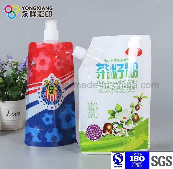 Color Customized Stand up Spout Pouch for Liquid Laundry Detergent