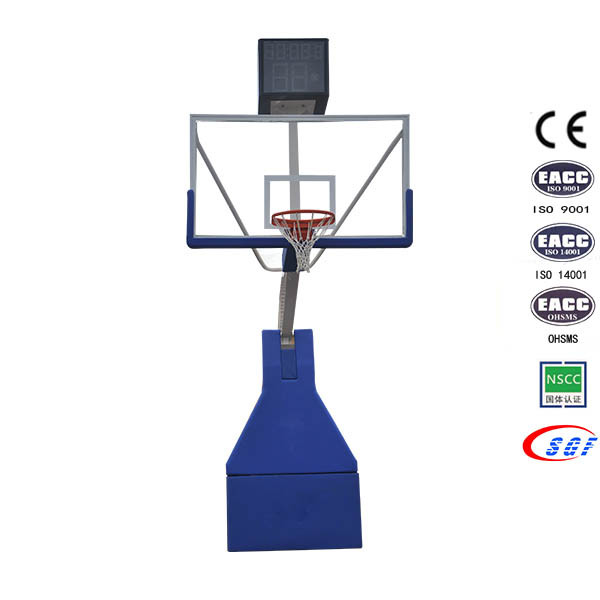 Professional Competition Indoor Foldable Portable Electric Hydraulic Basketball Hoops