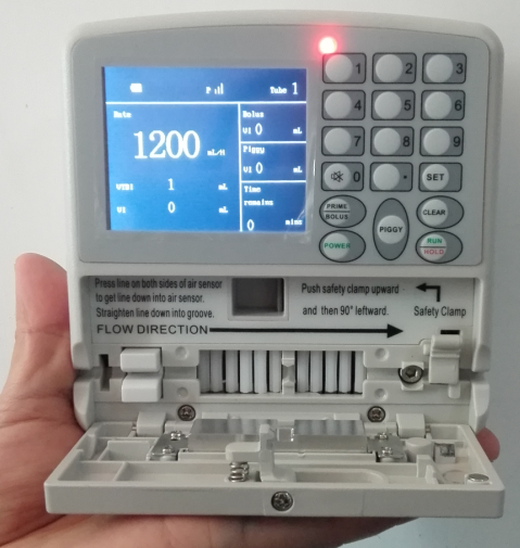 01. -1200ml/Hr CE-Marked Mini Infusion Pump