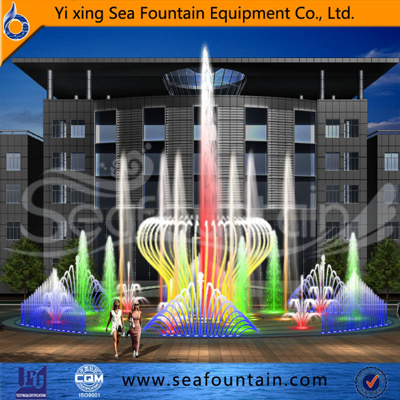 Stainless Net Multimedia Music Dry Floor Fountain