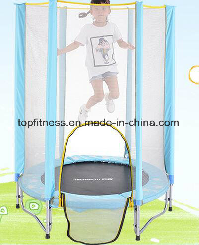Colorful Large Trampoline with Enclosure