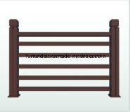 WPC Garden Floor PE Composite Wood Fencing Streamside WPC Railing K-Nrl- 03