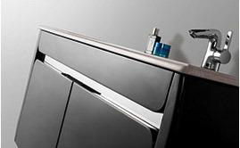 Sanitary Ware MDF Vanity Wall Mounted Bathroom Vanity Cabinet