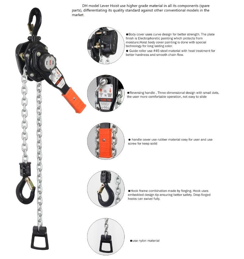 1.5ton Rachet Chain Lever Hoist of Hand Tool
