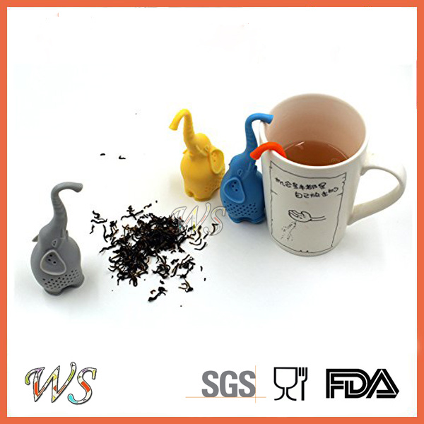 Ws-If054 Elephant Silicone Tea Infuser Tea Filter Food Grade Tea Strainer