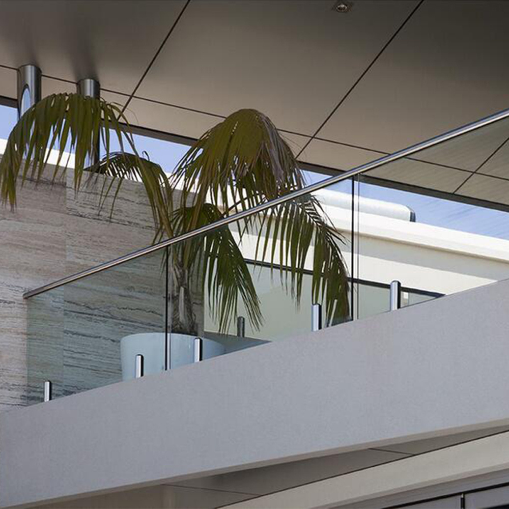 Stainless Steel 316 Balcony Glass Railing Balustrades Handrails