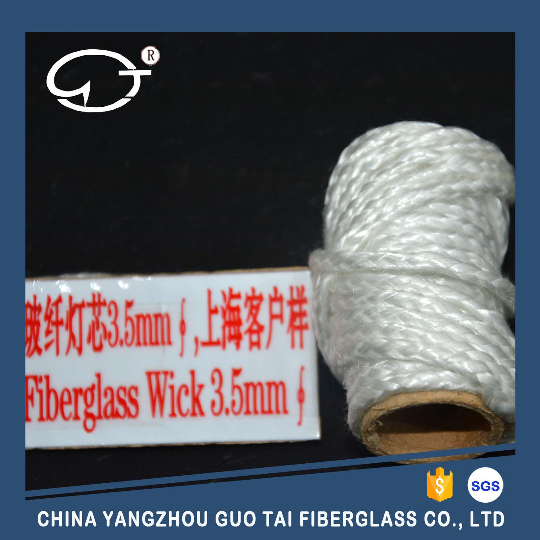 Weaving Long Service Life and Non-Knot Fiberglass Round Wick