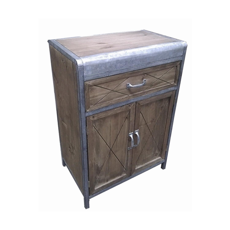Antique Tin&Wood Mixed Furniture Home Furniture