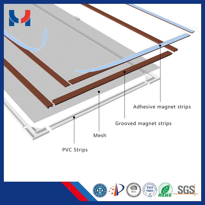 Mosquito Magnetic Mesh Door Window Screen for Aluminum Doors Window Frames