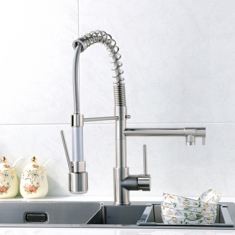 Flg Kitchen Faucet with Sprayer LED Design Kitchen Mixer Taps