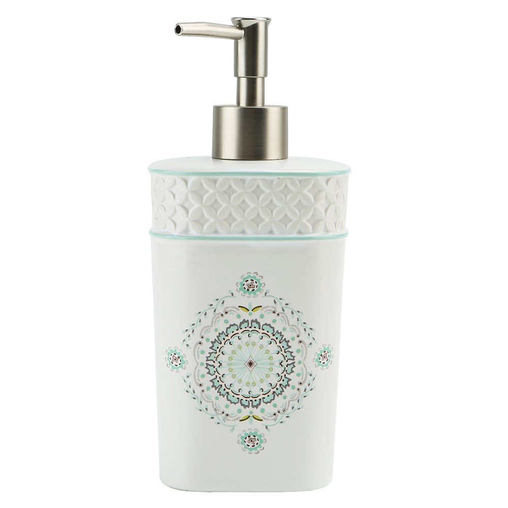 Camden Decal & Hand Paint Ceramic Bathroom Accessory / Bath Accessory / Bathroom Set