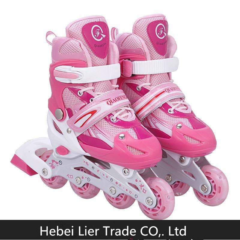 Custom Inline Skates Shoes Manufacturer Double Row Kids Roller Skate