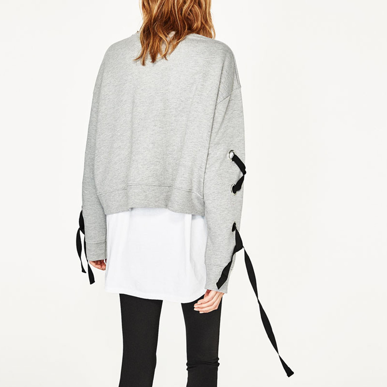 Ladies Fashion Bandage Sleeves Short T-Short Blouse