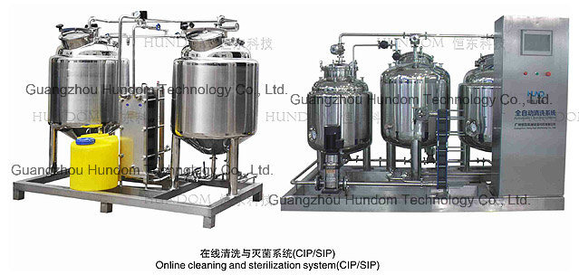 CIP Online Cleaning System for Food Industry