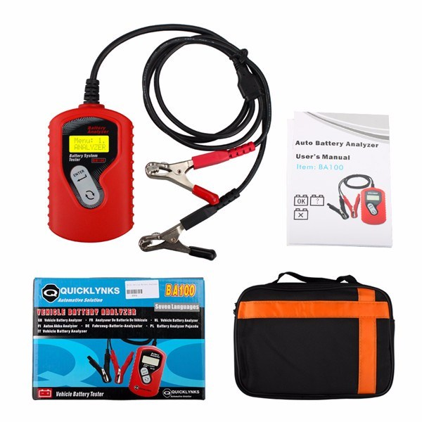 Quicklynks Ba100 Auto Motive Battery Analyzer Vehicle12V Digital for All Cars Data Analyzer Quicklynks Ba100 Tester
