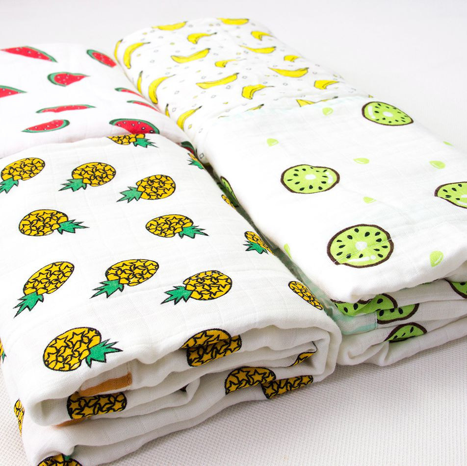Four Layers Cotton Muslin Blanket Swaddle, Newborn Blanket/Baby Blanket