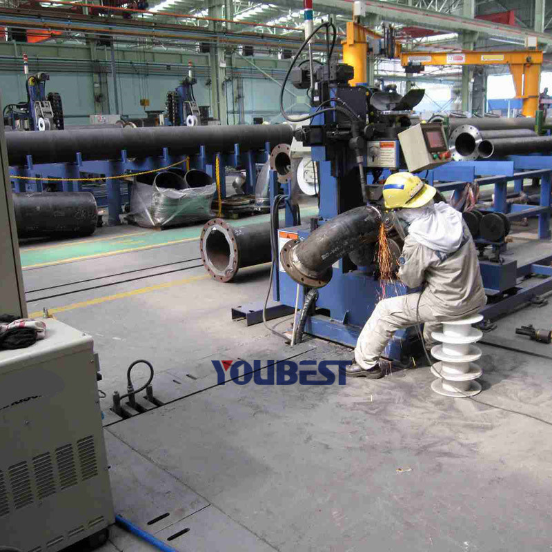 Automatic Steel Pipe to Elbow Welding Machine