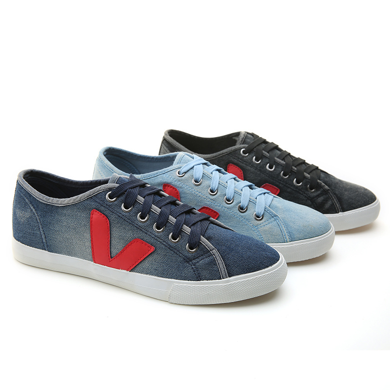 2017 New Menshoes Canvas Casual Vulcanized Jean Fashion Men Sport Shoes