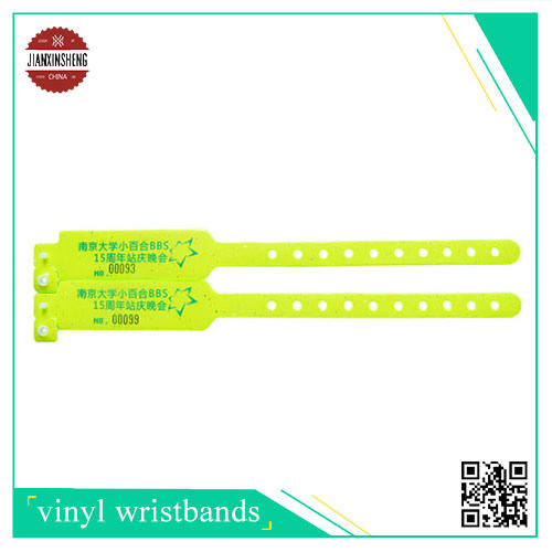 W Shape Vinyl Wristband with RFID