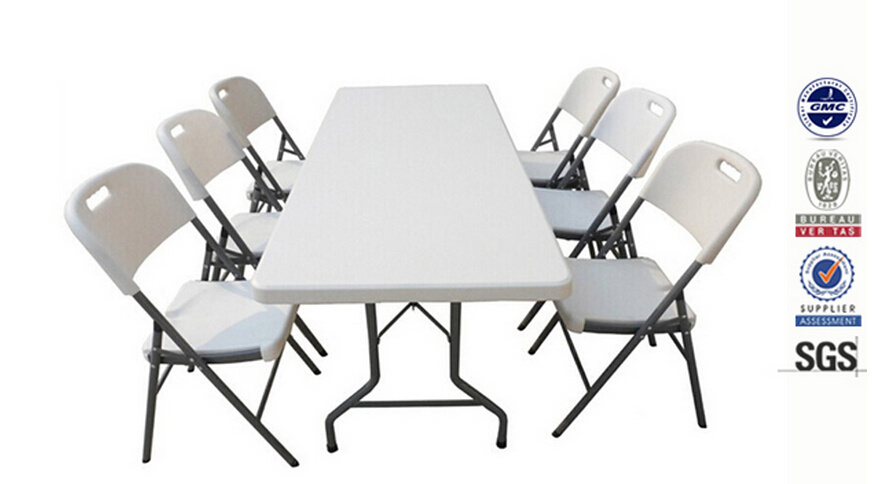 Hot Sale HDPE Folding Restaurant Table and Chair Set
