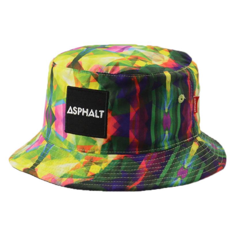 Custom Floral Polyester Sunhat Fishing Summer Cap Man Bucket Hat