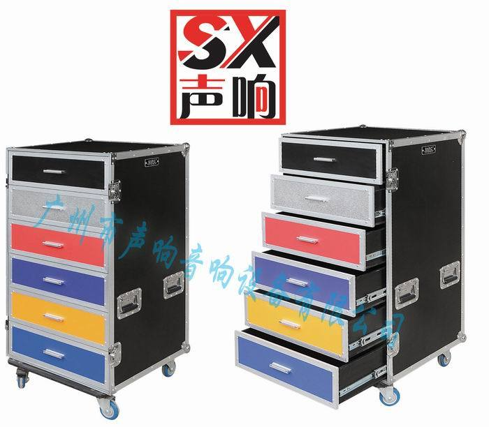 OEM Customized Drawer Flight Case with Wheels