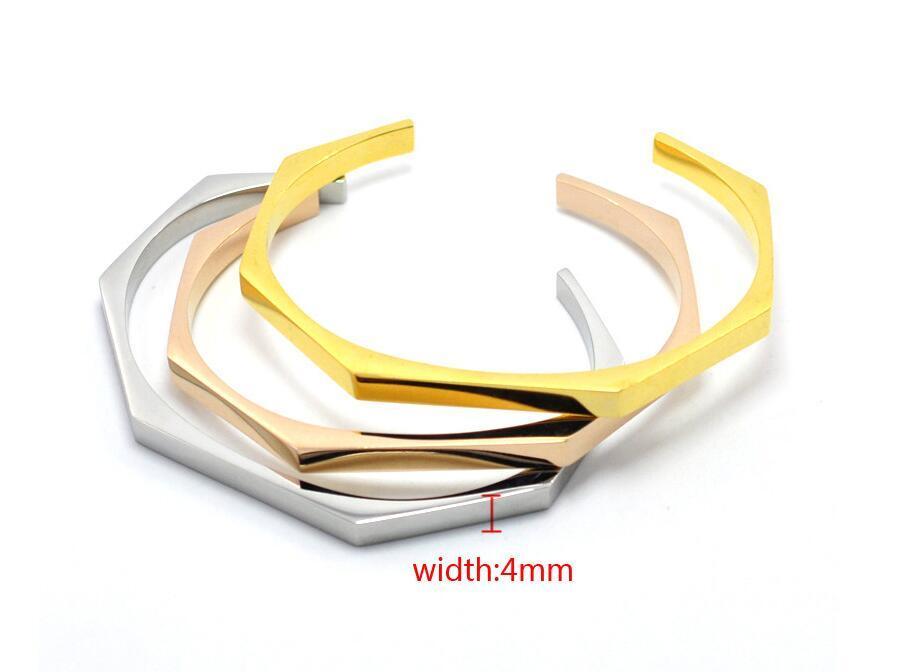 Stainless Steel Jewelry Open Cuff Bracelet Irregular Bangle