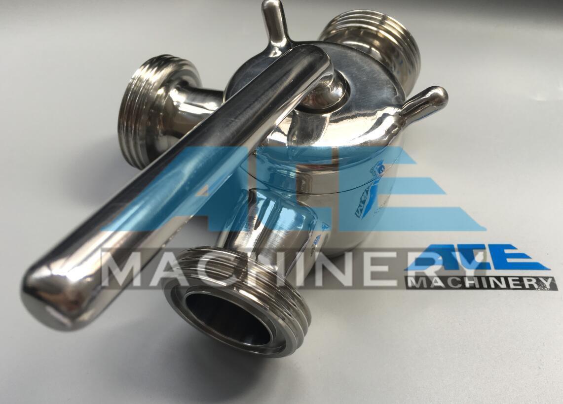 Stainless Steel Sanitary Three Way Bsm Plug Valve (ACE-XSF-3F)