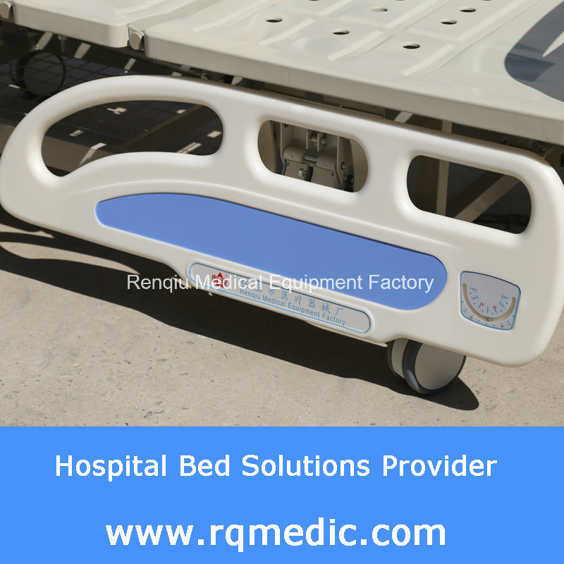 (CE, ISO) Double-Crank Manual (Side Rail Angle Indicator) Hospital Bed, Medical Bed