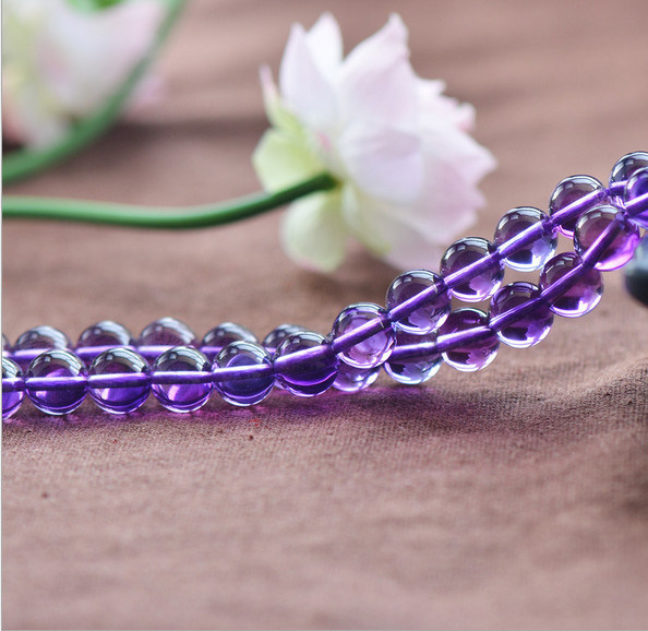 Mysterious Amaethyst Crystal Strand Size 4 5 6 8 10 12mm Gemstone Strand Natural Crystal Beads Graments