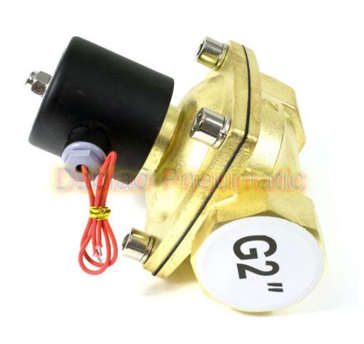 2′′ Fire Water Valve 2/2 Solenoid Valve Brass Valve 2W500-50 AC220V