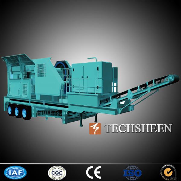 Techsheen Wheel Tyre Mobile Crushing Plant