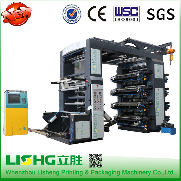 8 Colors HDPE T-Shirt Bag Flexographic Printing Machine