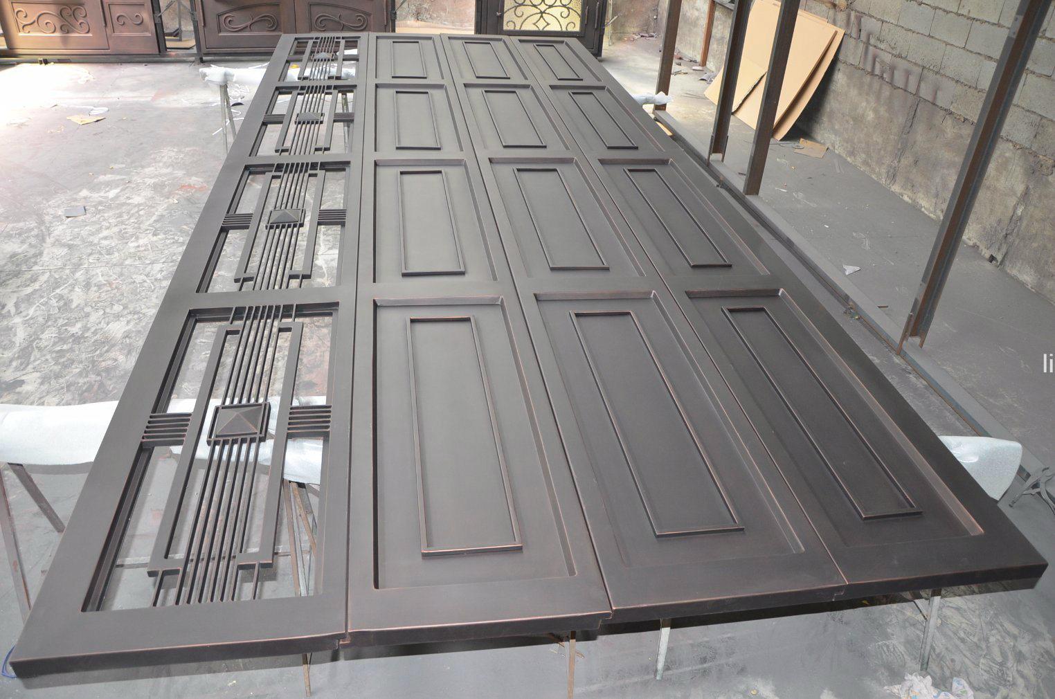 Wrought Iron Garage Door with Sectional Steel