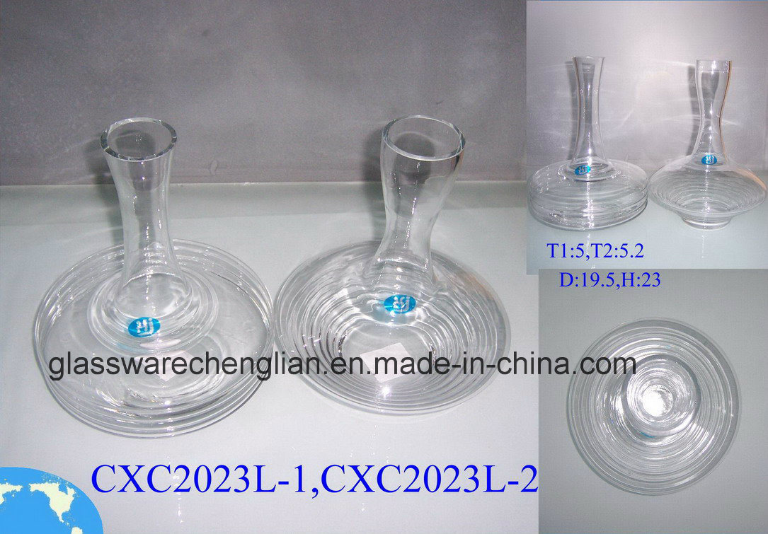 Hot Sell Designs of Clear Glass Bottle (CXC2023SC-1, 2)