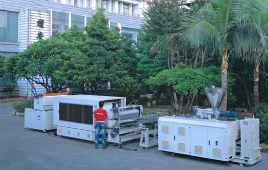 Synthetic Resin Roofing Tile Extrusion Product Line