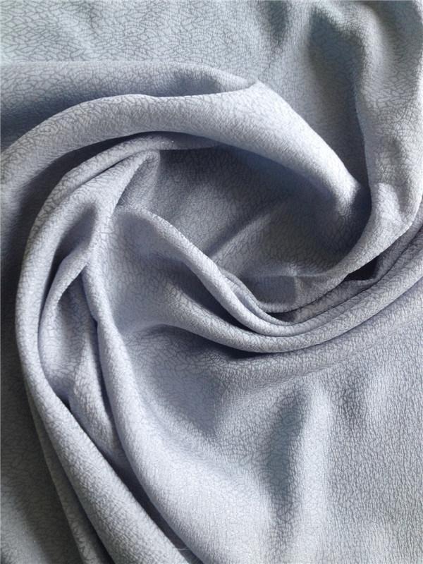 Jacquard Silk Rayon Fabric in Plain Dye