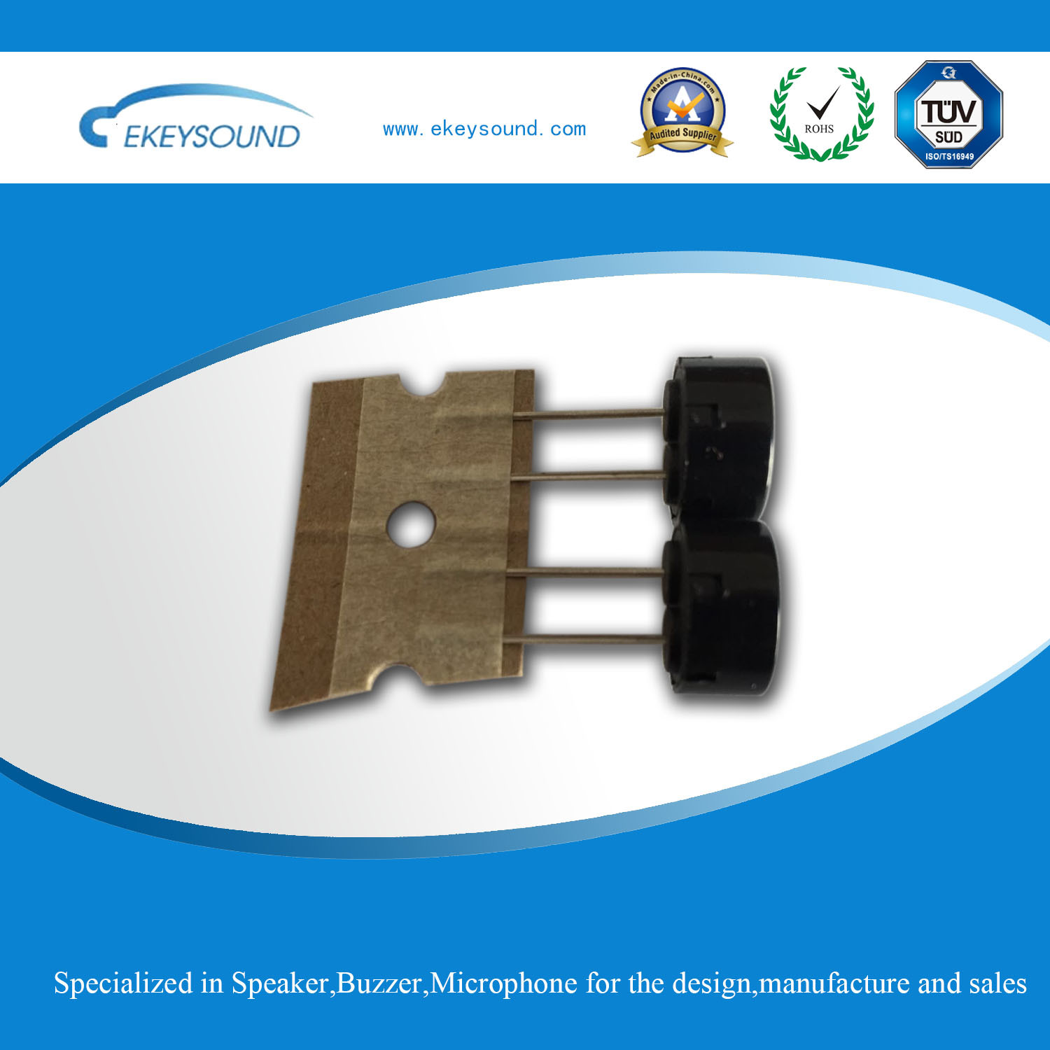 Mini Piezo Transducer with Reel Packing