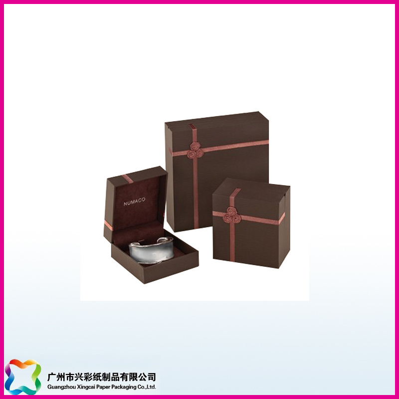 Rigid Wooden Cardboard Display Gift Box Matte Lamination and Foiling
