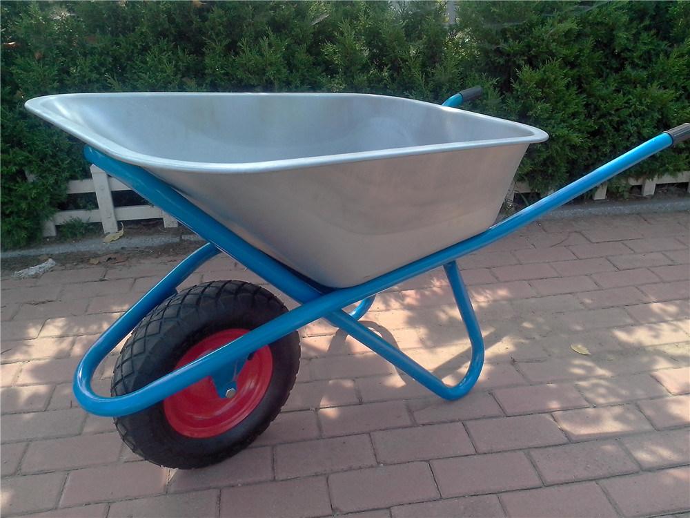 Wb6425g Zinc Plated Wheelbarrow for Russia Market