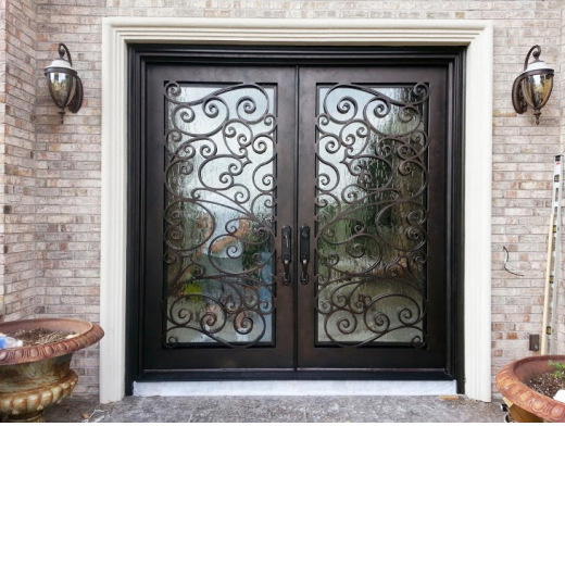 Cheap Price Wrought Iron Door Glass